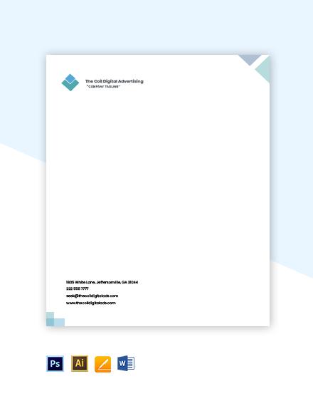 Digital Advertising Agency Letterhead