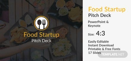 Food Startup Pitch Deck Template