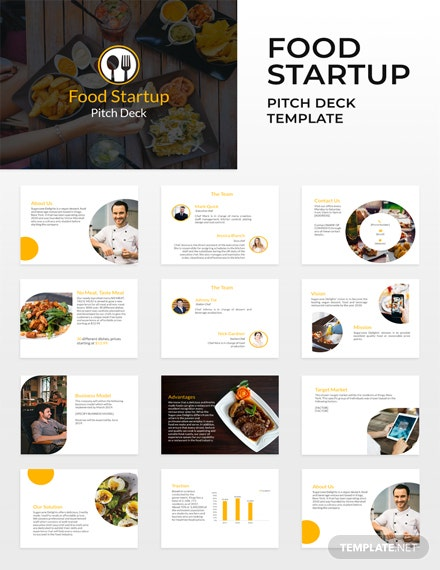 Free Food Startup Pitch Deck Template