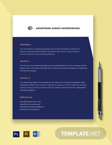 advertising agency fact sheet