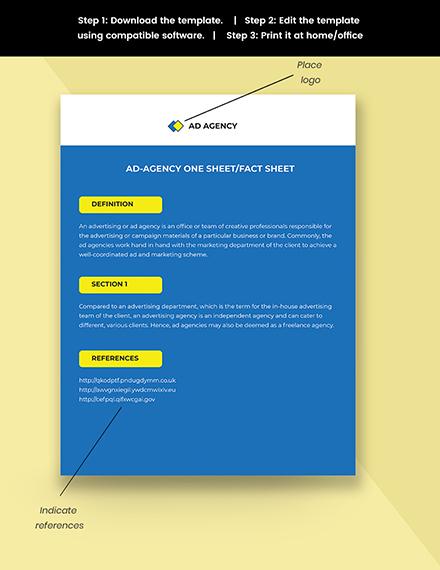 Ad agency onesheetfactsheet Snippet