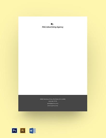professional advertising agency letterhead