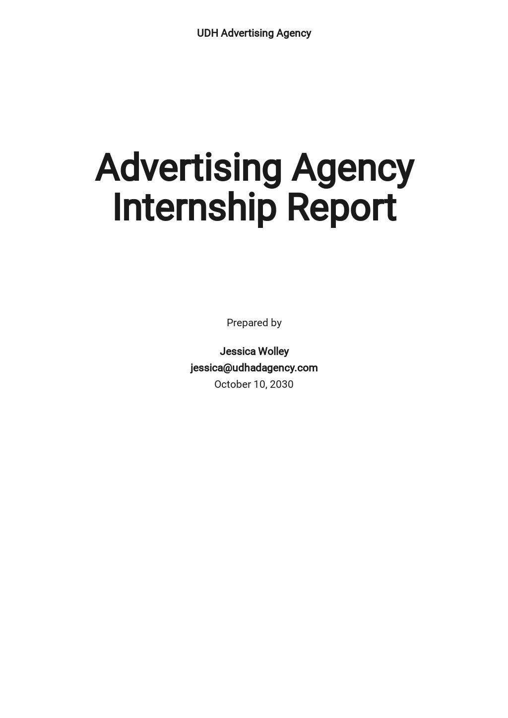 Advertising Agency Internship Report Template.jpe
