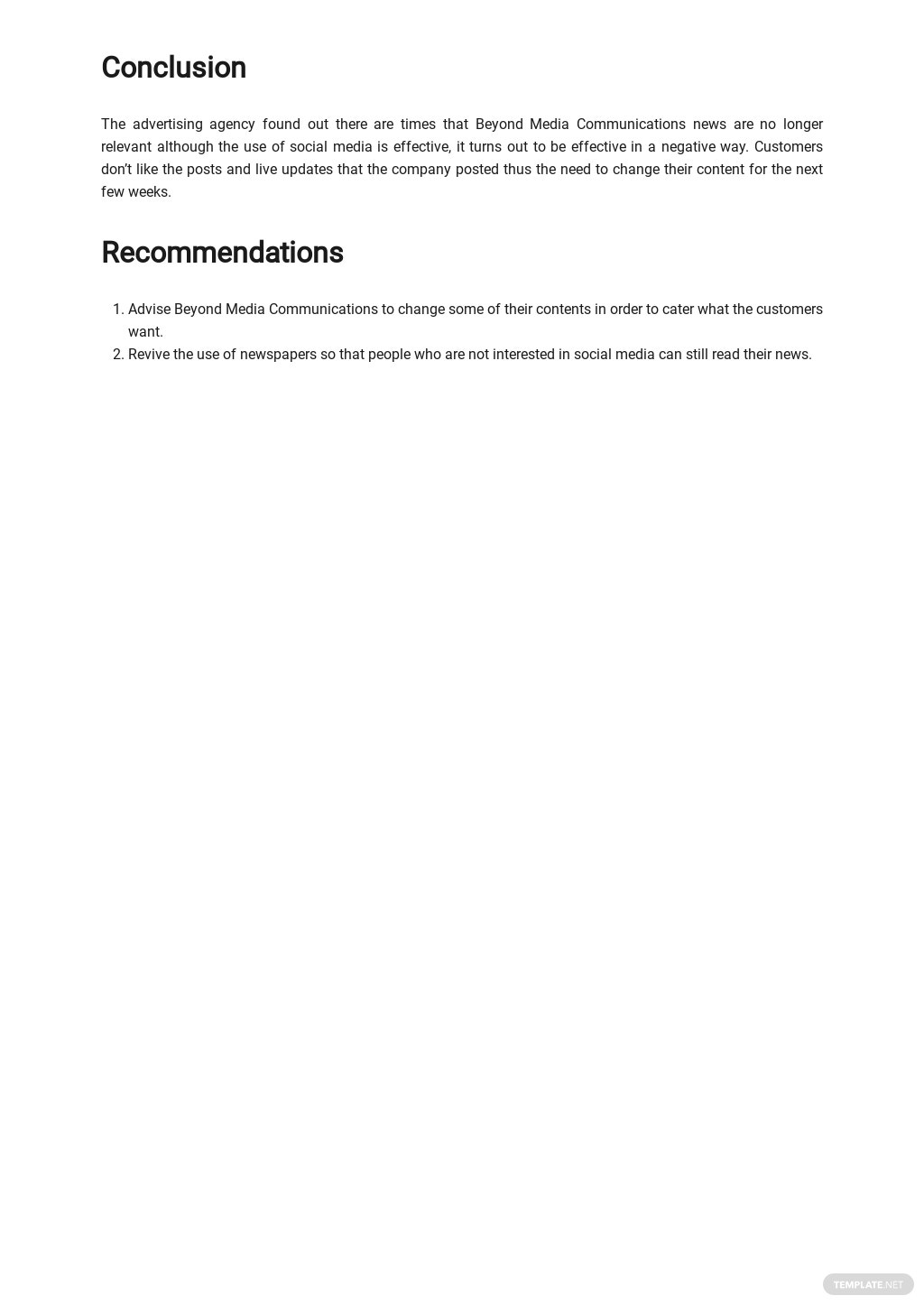 Free Sample Advertising Agency Report Template 3.jpe