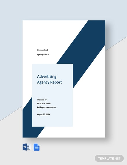 Free Simple Advertising Agency Report Template
