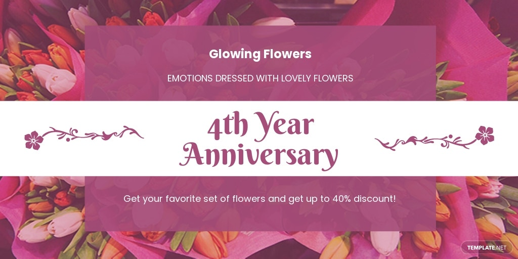 Free Flower Shop Twitter Post Template