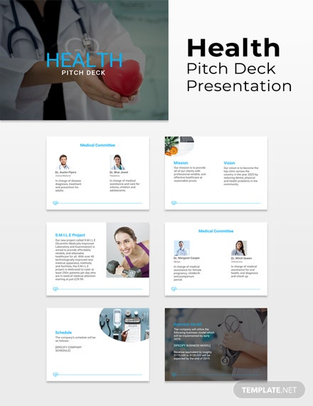 Free Health Pitch Deck Template