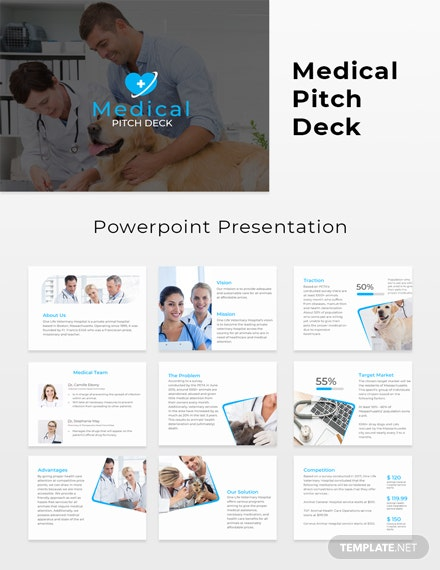 Free Medical Pitch Deck Template