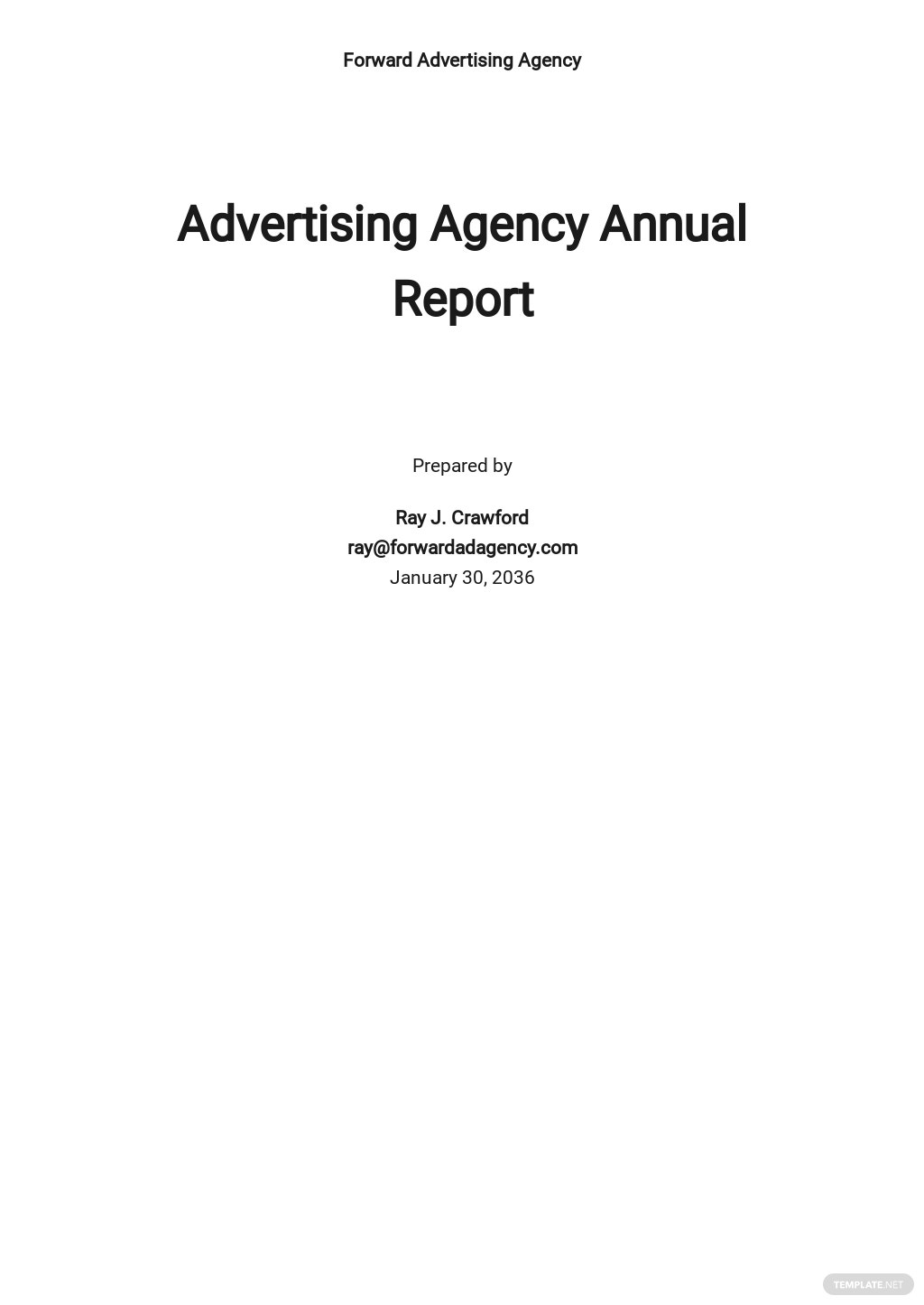 Advertising Agency Annual Report Template.jpe