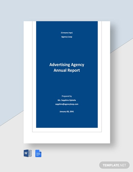 Advertising Agency Annual Report