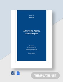 Advertising Agency Annual Report Template