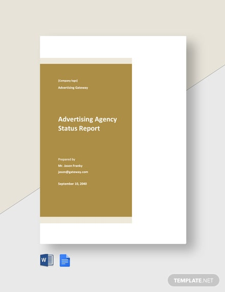 Advertising Agency Status Report Template
