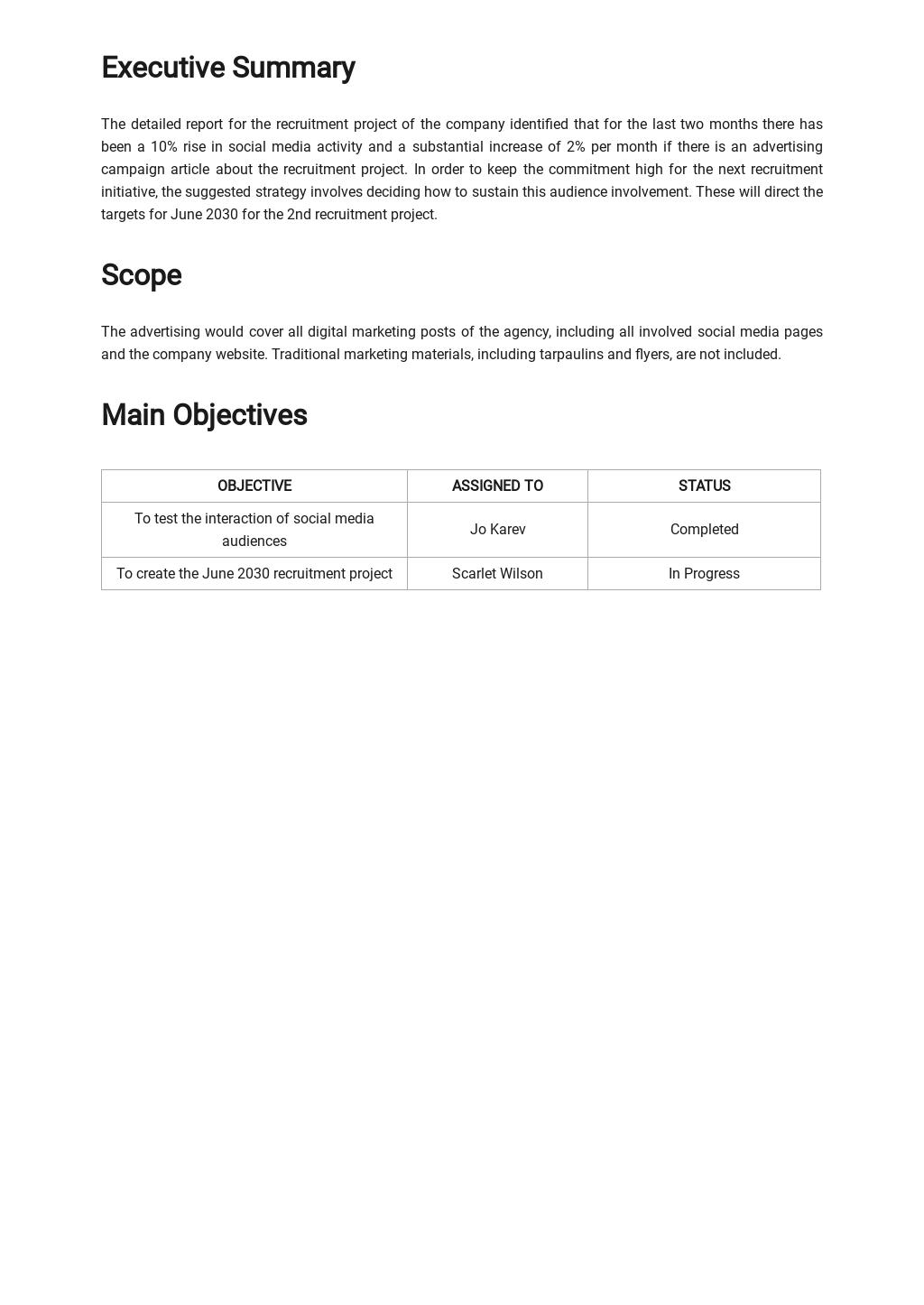 Sample Advertising Agency Report Template 1.jpe