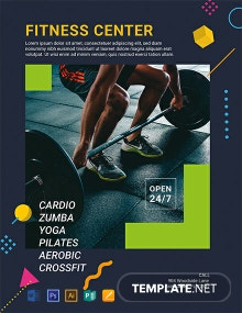 Free Fitness Center Flyer Template