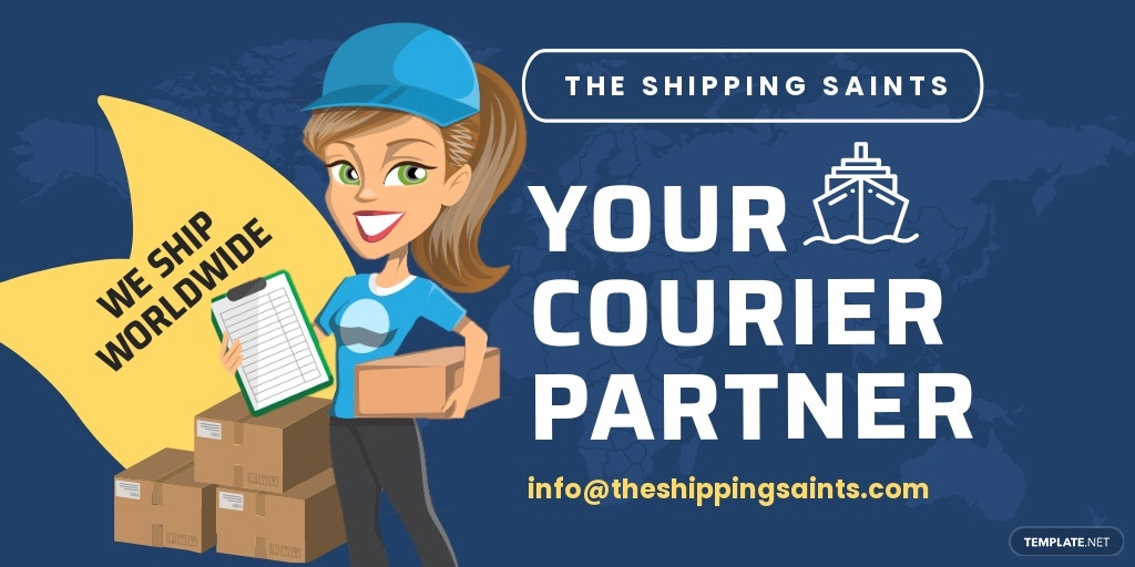 Free Shipping Twitter Post Template