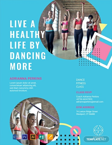 Free Fitness Class Flyer Template Word Doc Psd Apple Mac Pages Publisher Illustrator Template Net