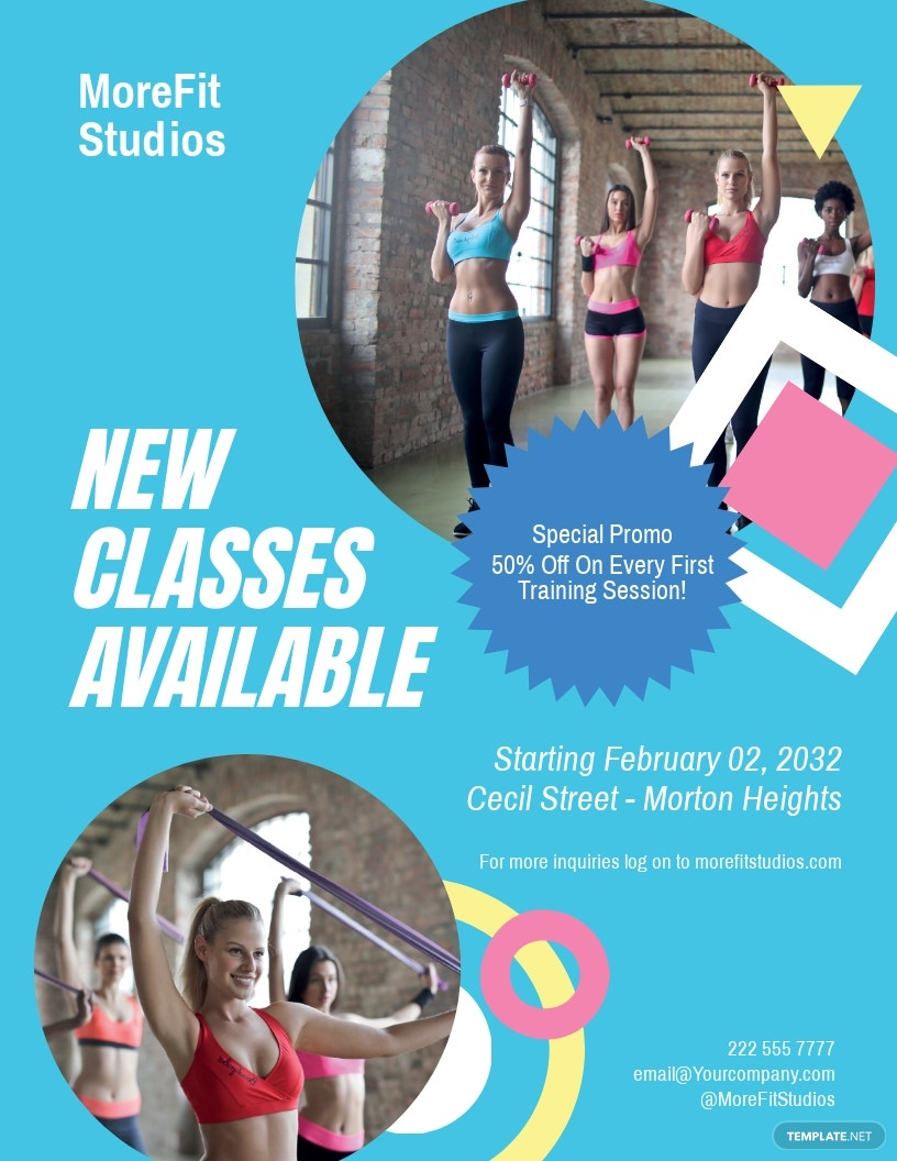 Free Fitness Class Flyer Template