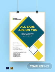Professional Music School Poster Template