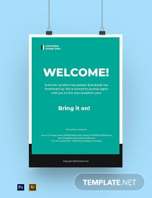 Free Simple First Day Of School Poster Template