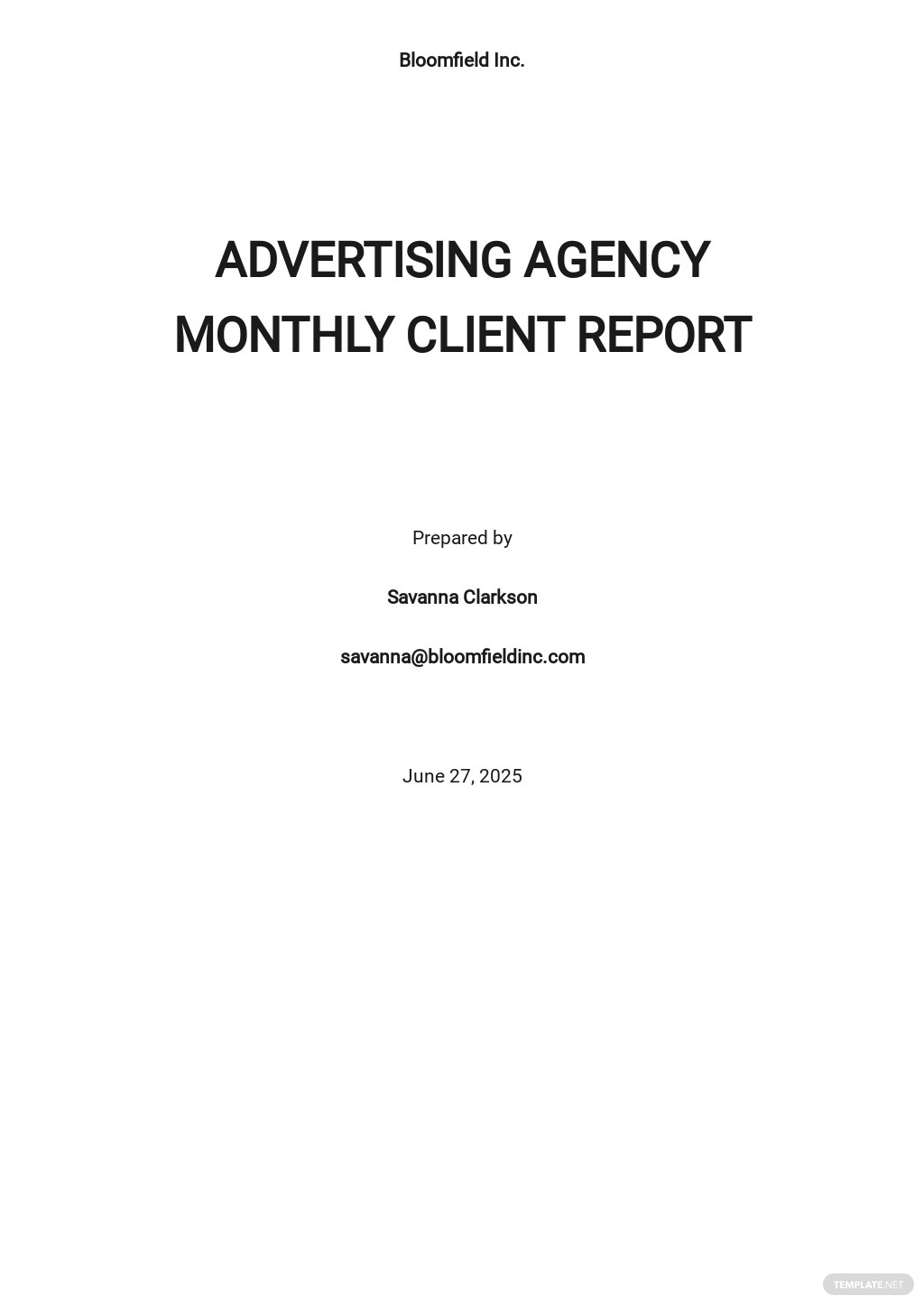 Editable Advertising Agency Monthly Client Report Template.jpe