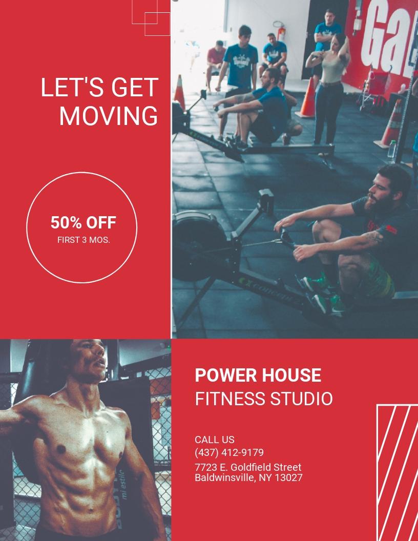 Free Fitness Studio Flyer Template.jpe