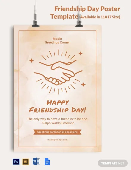 Free Friendship Day Poster Template