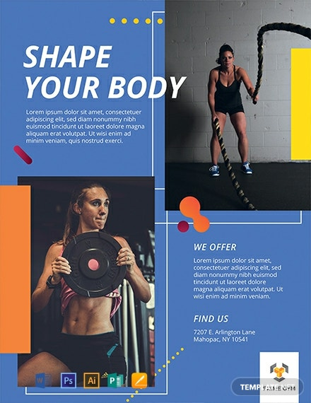 Free gym flyer design template download flyers in psd