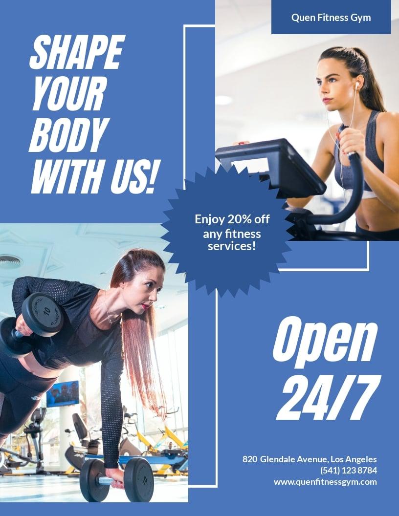 Free Gym Flyer Design Template