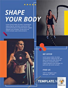 Gym Flyer Design Template