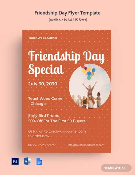 Free Friendship Day Flyer Template