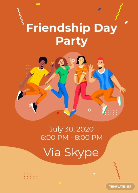 Friendship Day Party Invitation Template