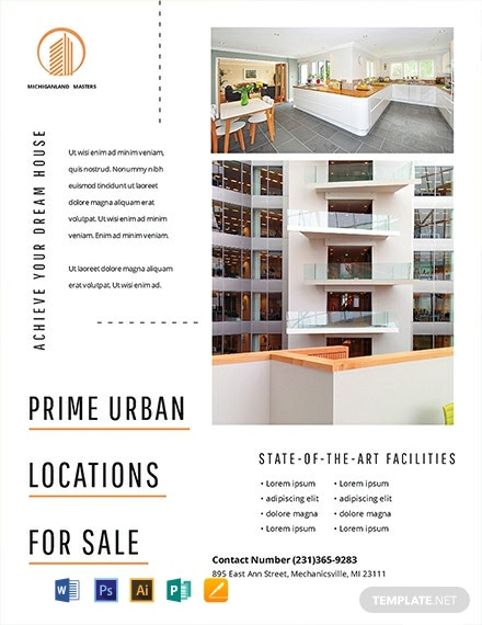 Free Minimal Real Estate Flyer Template