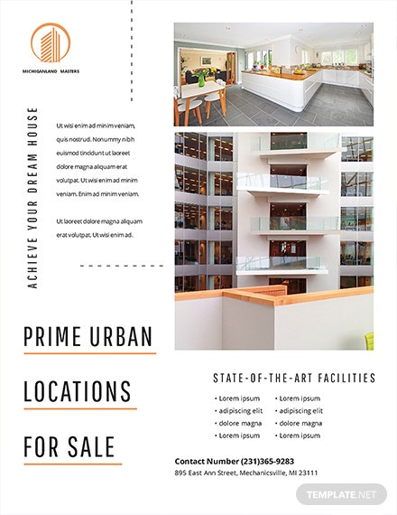 free minimal real estate flyer template download 416 flyers in psd