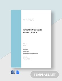 Advertising Agency Privacy Policy Template