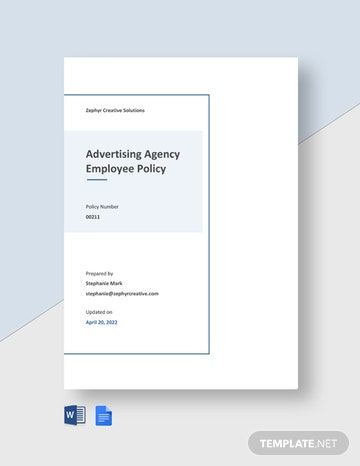 Simple Advertising Agency Policy Template