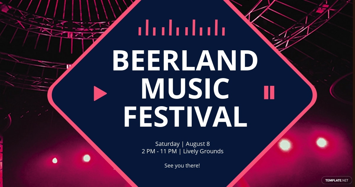 Music Festival Facebook Post Template