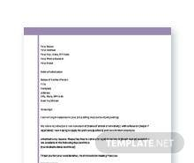Free Application Letter Template For Student