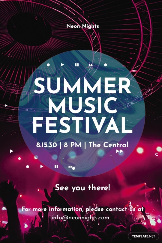 Free Music Festival Tumblr Post Template