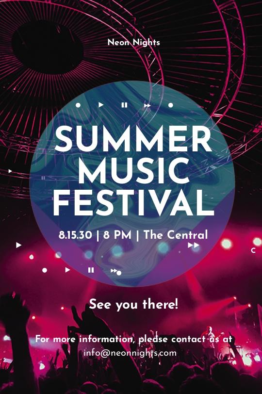 Music Festival Tumblr Post Template