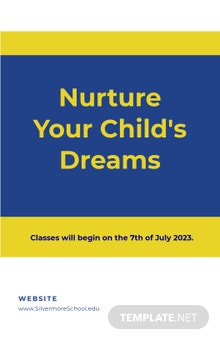 New School Advertisement Poster Template