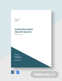 Advertising Agency Industry Analysis Template