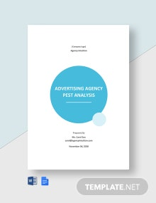 Advertising Agency Pest Analysis Template