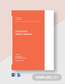 Free Advertising Agency Analysis Template