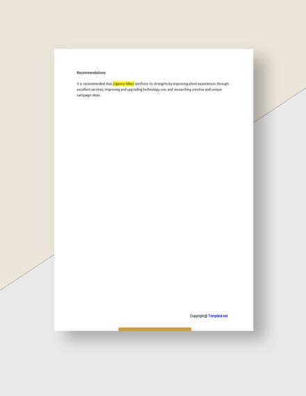Free Sample Advertising Agency Analysis Download