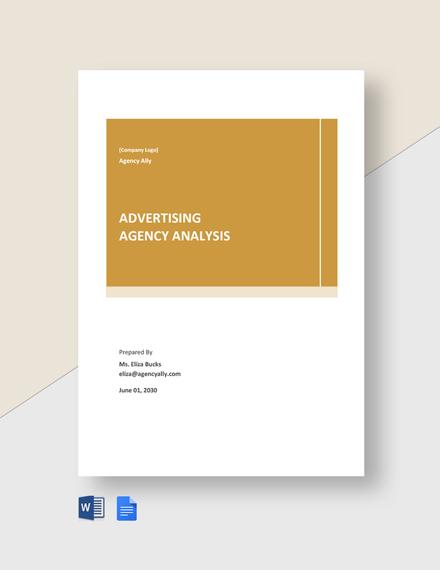 Free Sample Advertising Agency Analysis