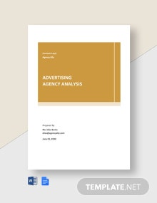 Free Sample Advertising Agency Analysis Template