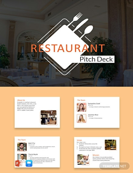 Free Restaurant Pitch Deck Template