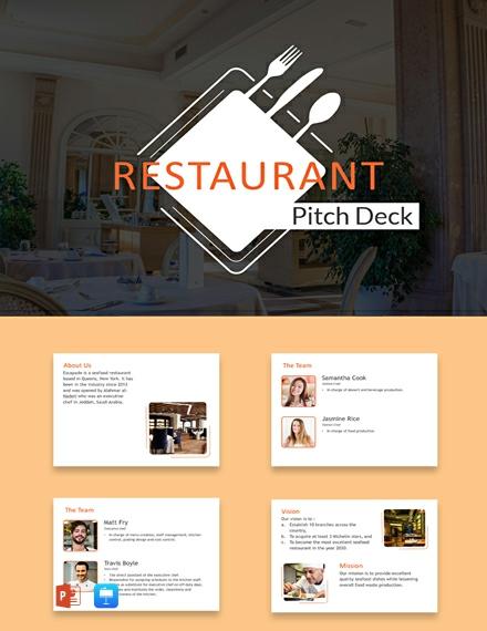 Free Restaurant Pitch Deck Template