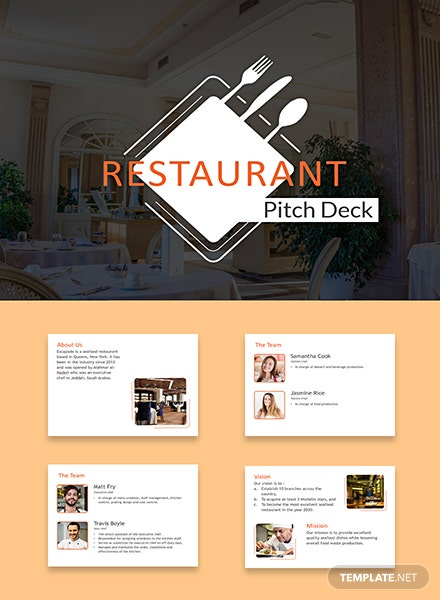 Restaurant Pitch Deck Template