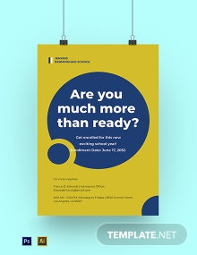 Back to School Year Poster Template
